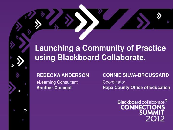 launching a community of practice using blackboard collaborate n.
