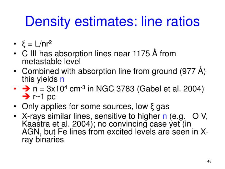 Density estimates: line ratios