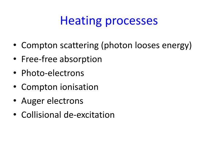 Heating processes