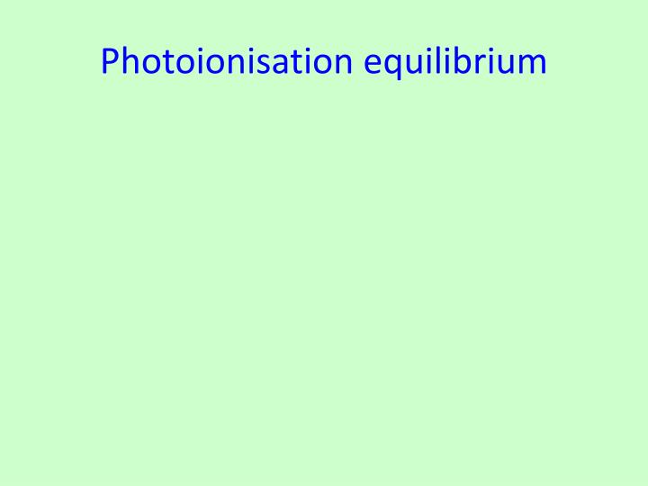 Photoionisation