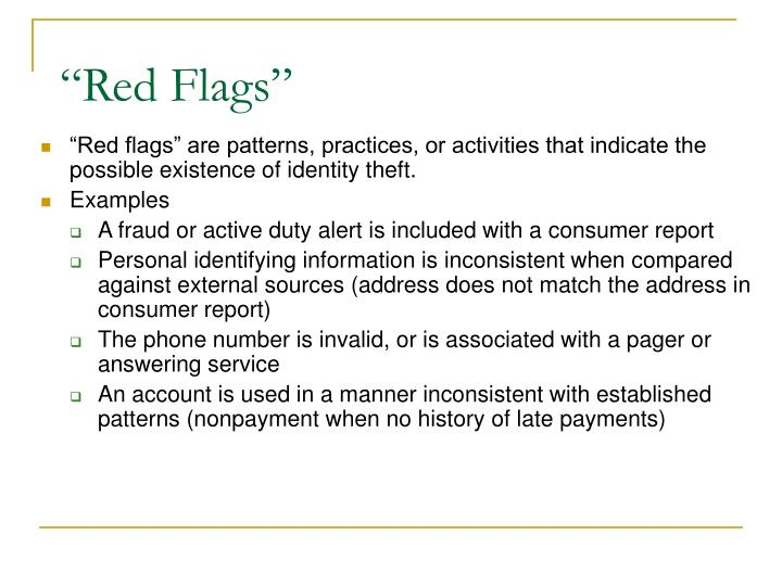 """Red Flags"""