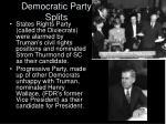 democratic party splits