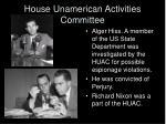 house unamerican activities committee