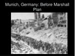 munich germany before marshall plan