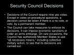 security council decisions