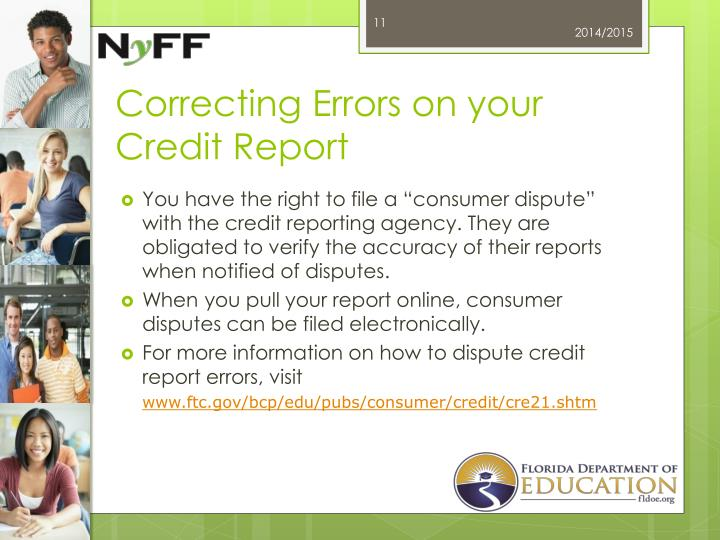 Correcting Errors on your Credit Report
