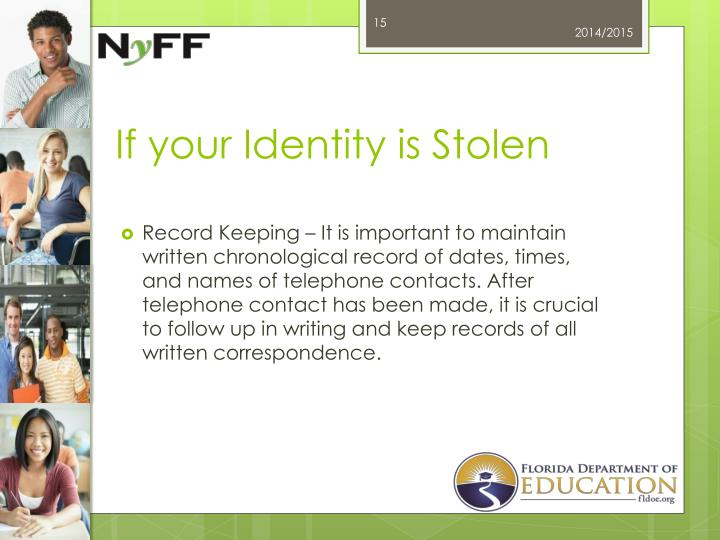 If your Identity is Stolen
