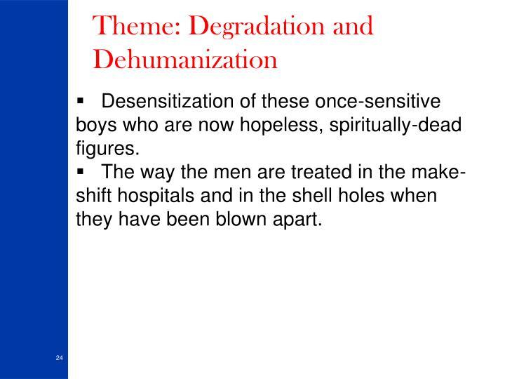 Theme: Degradation and Dehumanization