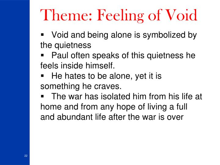 Theme: Feeling of Void