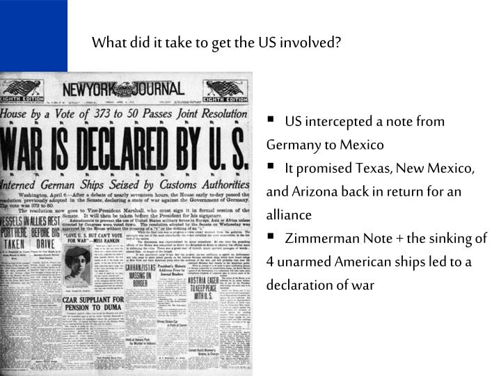 What did it take to get the US involved?