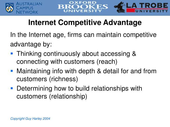 Internet Competitive Advantage