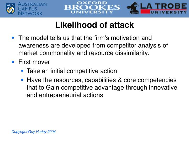 Likelihood of attack