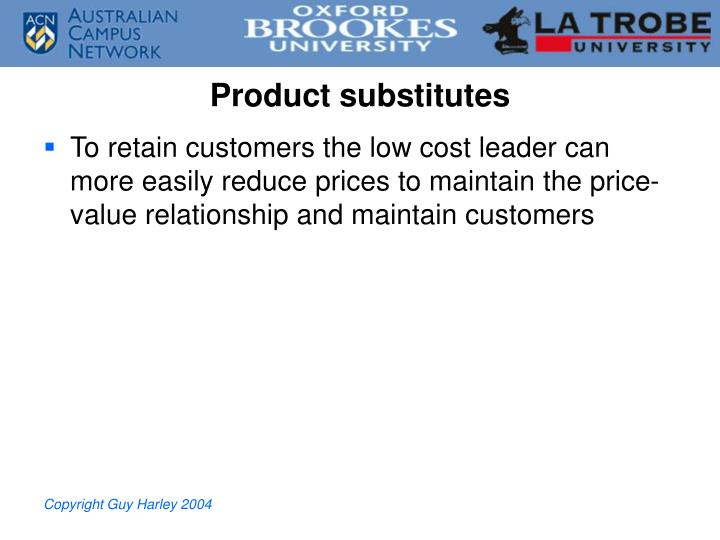 Product substitutes