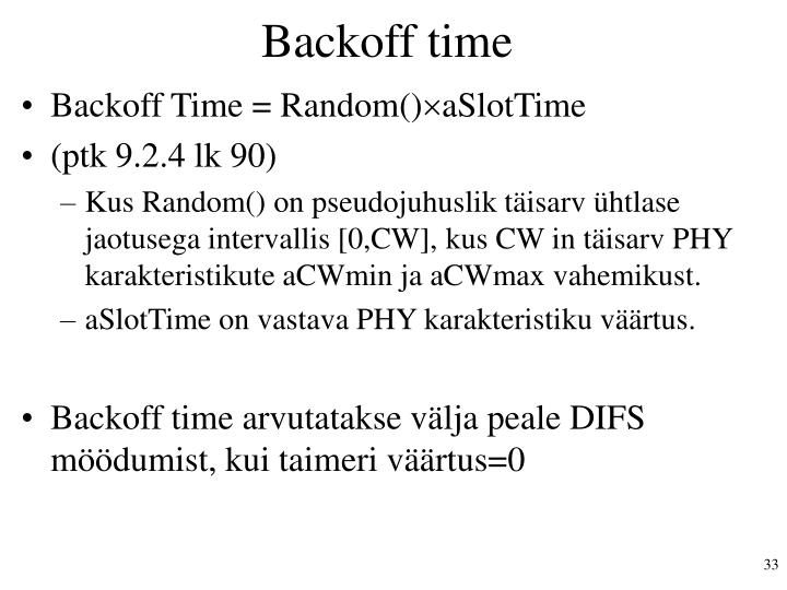 Backoff time
