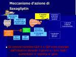 meccanismo d azione di saxagliptin