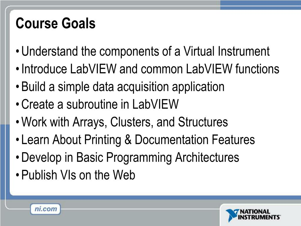 PPT - Virtual Instrumentation With LabVIEW PowerPoint