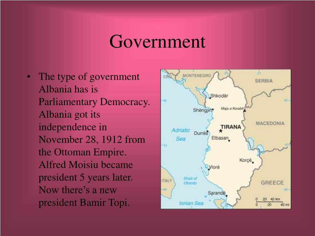 what kind of government does albania have