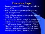 executive layer