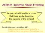 another property abuse freeness