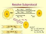 resolve subprotocol