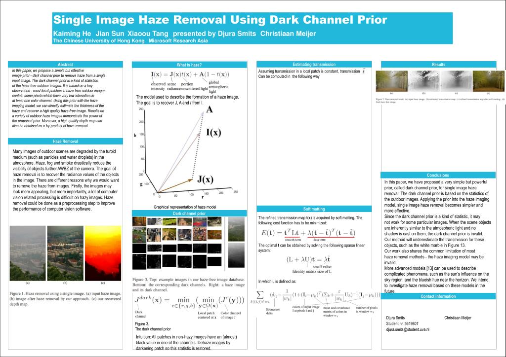 PPT - Single Image Haze Removal Using Dark Channel Prior PowerPoint
