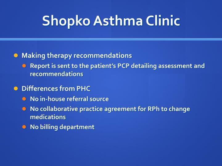 Shopko Asthma Clinic