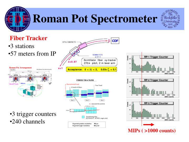 Roman pot spectrometer