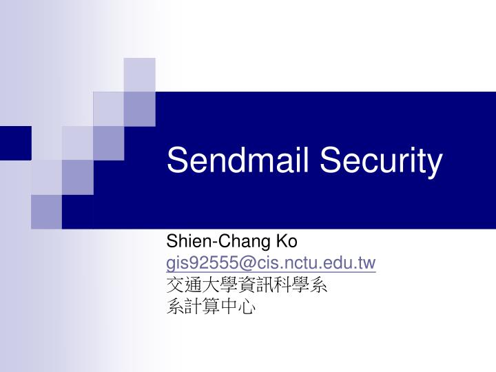 sendmail security