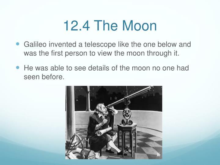 12.4 The Moon