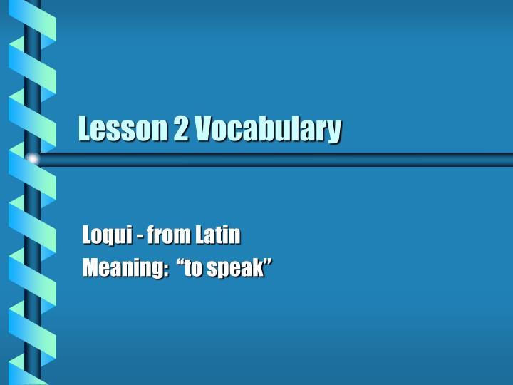 lesson 2 vocabulary n.