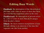 editing buzz words