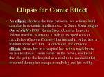 ellipsis for comic effect