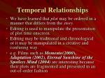 temporal relationships