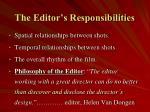 the editor s responsibilities