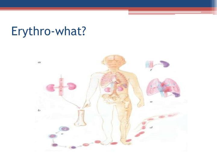 Erythro-what?