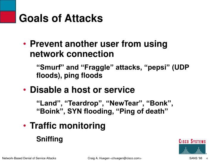 Goals of Attacks