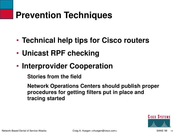 Prevention Techniques