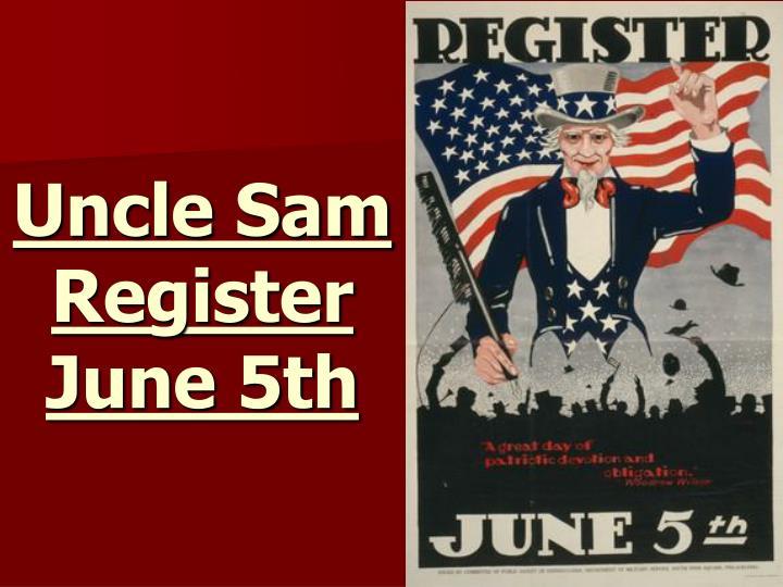 Uncle Sam Register June 5th