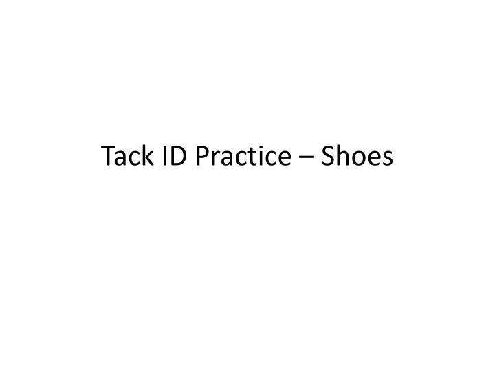 Tack id practice shoes