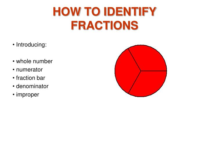how to identify fractions n.