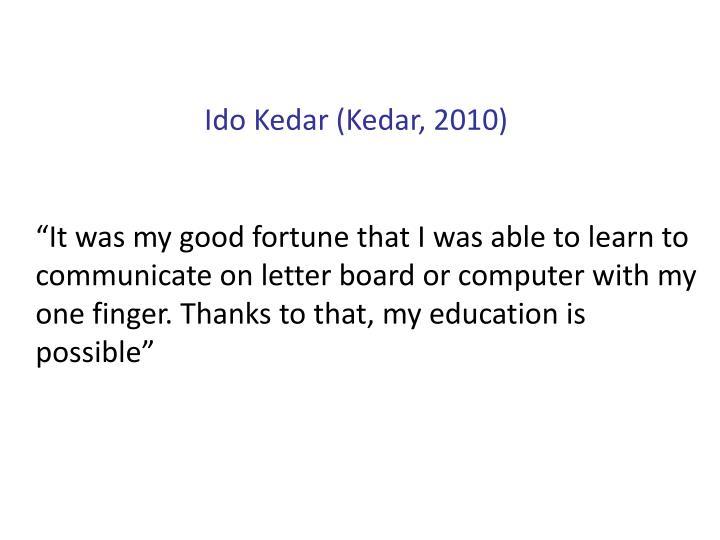 Ido Kedar (Kedar, 2010)