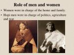 role of men and women