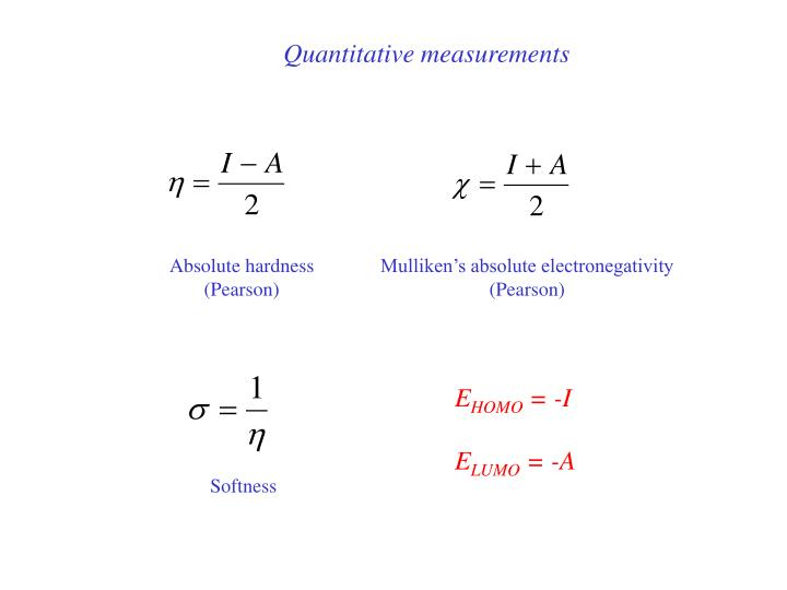 Quantitative measurements