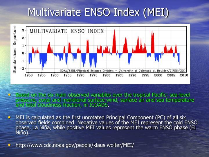 Multivariate ENSO Index (MEI)