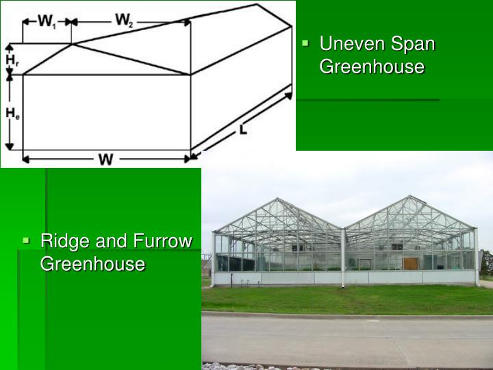 Uneven Span Greenhouse