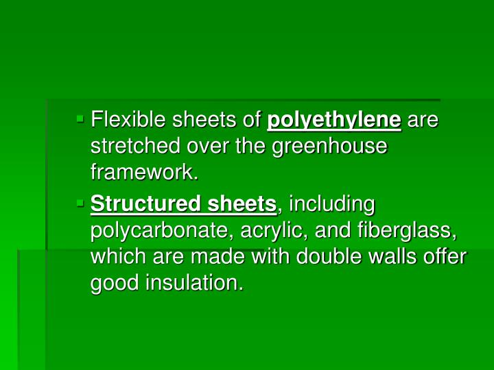Flexible sheets of