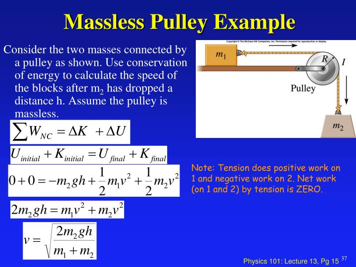 Massless Pulley Example