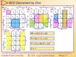 bcd decrement by one