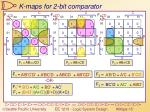 k maps for 2 bit comparator
