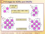 k maps for xors and xnors